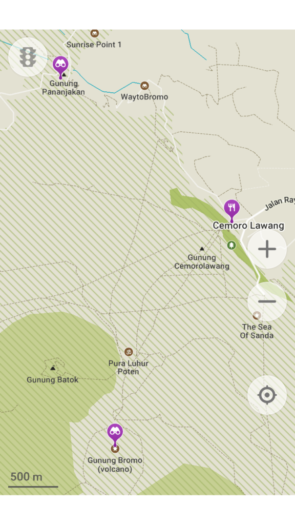 How to hike Mt Bromo for free Map
