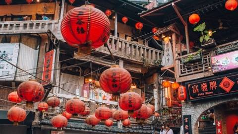 Taipei Guide: red chinese lantern in Jiufen