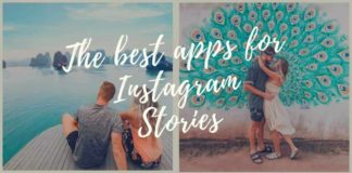 Title photo with four different photos for the blog post: The best Instagram Story apps in 2019