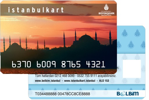 Front and back side of the Istanbulkart
